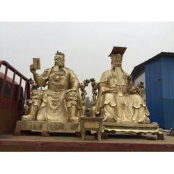 恒天铜雕厂家(在线咨询) 订做西方三圣铜佛像图片