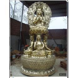 新疆贴金铜佛像制作图片