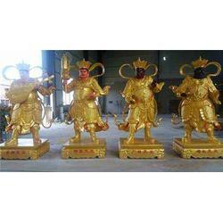 天津铸铜四大天王、恒天铜雕、站铸铜四大天王图片