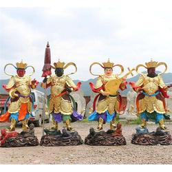 铸铜四大天王、恒天铜雕、铸铜四大天王制作图片