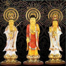 玻璃钢西方三圣佛像,陕西西方三圣,恒天铜雕(多图)图片