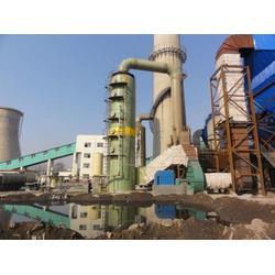 锅炉玻璃钢脱硫塔 工业锅炉除尘器 烟囱除尘器 湿式除尘塔 废气吸收塔图片