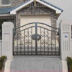 江门小区大门,华雅铝艺进口原料,小区大门安装图片
