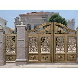 佛山庭院大门、华雅铝艺控制方便、庭院大门厂家图片