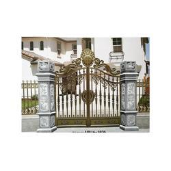 华雅铝艺认证商家(图),庭院大门设计,广州庭院大门图片