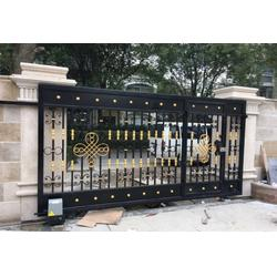 广州小区大门|小区大门设计|华雅铝艺环保实用(多图)图片