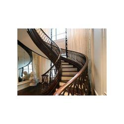 东莞户内楼梯扶手|华雅铝艺服务周到|户内楼梯扶手生产图片