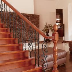 茂名家装楼梯扶手-华雅铝艺德国技术-家装楼梯扶手制作图片