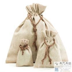 南束口小袋 茶叶包装麻布袋 厂家批量订做束口小麻布袋图片