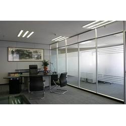 单层玻璃隔断,单层玻璃隔墙,屏风隔断图片