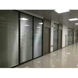 双玻璃百叶隔断,玻璃隔断带百叶,内夹百叶玻璃隔断图片