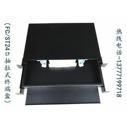 FC24口抽拉式1U机房终端盒 ST24口抽屉式光纤终端盒光缆盒图片