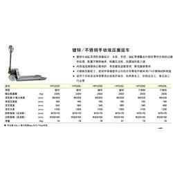单货叉型手动液压搬运车多少钱 欧誉工业设备有限公司