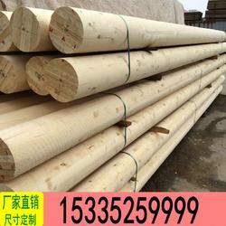 定制加工:松木立柱 木电杆尺寸定制图片