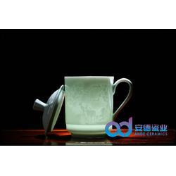 影青陶瓷茶杯图片
