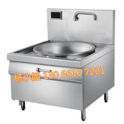 1米单头电磁大炒炉,食堂用电大铁锅,500人吃饭用多大的电磁灶图片