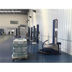 海安缠膜机器人-新辰包装-自走式缠膜机器人图片