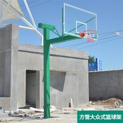 地埋篮球架安装,美凯龙文体设备,地埋篮球架图片