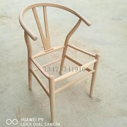 大自然木器厂厂家直销实木餐桌椅白茬实木Y椅椅子白胚实木编藤椅酒店宴会扶手靠背椅白茬图片