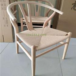 厂家直销实木Y椅实木餐椅白茬书房靠背扶手椅Y椅编绳椅白茬图片