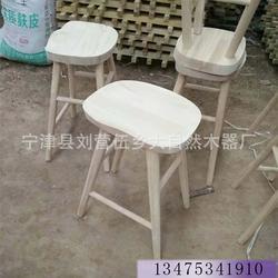 供应 实木餐桌椅白茬实木酒吧椅酒吧凳白茬火锅店面馆餐凳白茬图片
