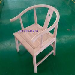 供应实木新中式桌椅白茬实木茶椅禅意椅白茬休闲会客椅圈椅白坯图片