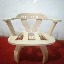 厂家直销简约桌椅白茬实木转椅白坯家用电脑转椅白茬图片