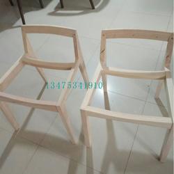 供应实木桌椅白茬新款实木斜面椅白茬简约餐厅酒吧靠背椅大排档椅白茬图片