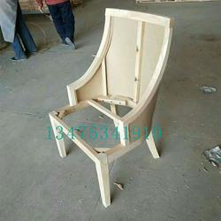 供应实木桌椅白茬欧式实木大软包餐椅酒店室内会议包背椅白茬图片