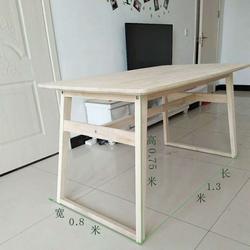 供应实木桌椅白茬北欧简约实木餐桌白茬西餐厅客厅长形餐桌露天餐桌白茬图片