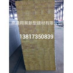 岩棉夹芯板 翔展新型建材(在线咨询) 彩钢岩棉夹芯板安装图片