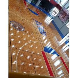 篮球地板-洛可风情运动地板-室外篮球地板图片