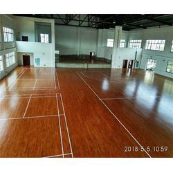 體育運動木地板施工、運動木地板、洛可風情運動地板圖片
