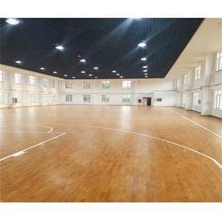 枫木篮球地板工厂价_篮球地板_洛可风情运动地板图片
