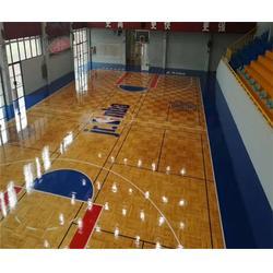 篮球地板|实木篮球地板|洛可风情运动地板图片