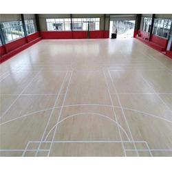 大庆篮球木地板_洛可风情运动地板_篮球木地板图片