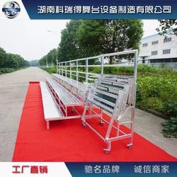 专业生产 铝合金合唱舞台架 钢铁折叠合影架子图片