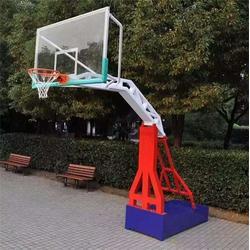 洛川地埋单臂篮球架-博泰体育值得信赖-地埋单臂篮球架多少钱图片