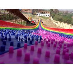 旱雪厂家大量定制彩虹七彩滑道滑雪圈滑道图片