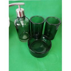 玻璃卫浴洗漱套装定制工厂-壬辰玻璃图片