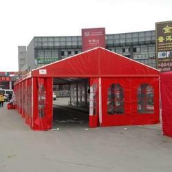 宴席餐蓬厂家,婚宴篷房出租,餐棚定制,红色婚庆喜蓬,亚太篷房制造图片
