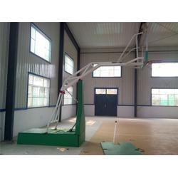 青岛液压篮球架,冀中体育,比赛用电动液压篮球架厂家图片