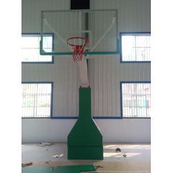 冀中业务,兴安盟液压篮球架,初中用手动液压篮球架图片