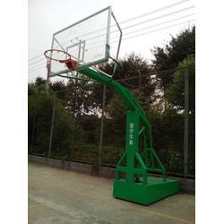 普洱液压篮球架、冀中体育公司、体育馆用全自动液压篮球架图片