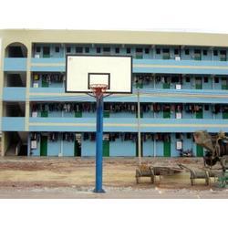 冀中体育公司|菏泽固定篮球架|篮球场用固定篮球架供应商图片