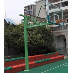 益阳固定篮球架_冀中体育(在线咨询)_户外固定篮球架加工图片