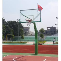 武汉固定篮球架、冀中体育公司、户外固定篮球架安装图片