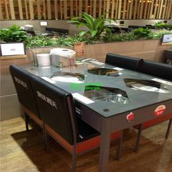 抽屉式餐桌饭菜真湘桌子同款可充电铁桌子-蜀香门第餐厅桌子工程案例款式图片