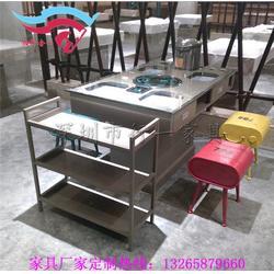 飯菜真湘桌子同款,帶抽屜鐵桌子樣品,湘菜餐廳餐桌餐椅圖片