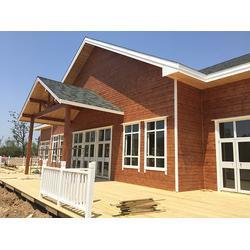 山东宏博园林景观公司 防腐木木屋安装-防腐木木屋图片